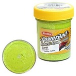 Паста форелевая Berkley PowerBait Natural Scent Glitter LIver, Chartreuse